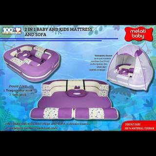 2 IN 1 BABY AND KIDS MATTRESS AND SOFA