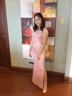 Bridesmaid Dress w/ slit (FOR RENT ONLY)