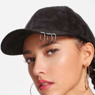 ringed suede hat