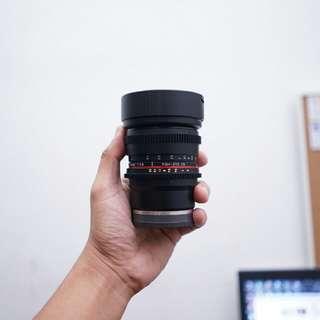 Samyang Cine lens 8mm t3.8
