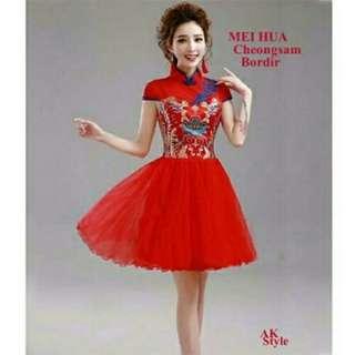 TiaCR meihua cheongsam dress (no barter, no nego)