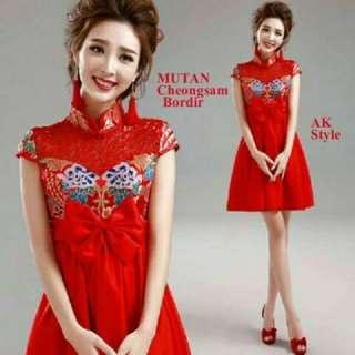 TiaCR new mutan cheongsam dress (no barter, no nego)