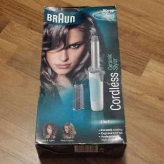 New Braun Cordless Ceramic Styler