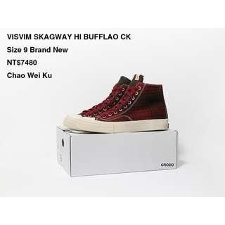 VISVIM SKAGWAY HI BUFFLAO CK Size 9 Brand New