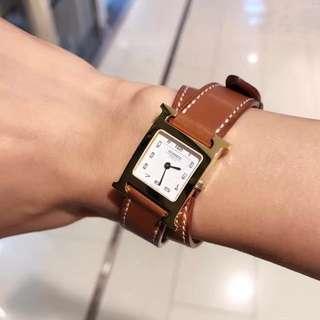 二手🔸Hermes Heure H hour watch 雙帶手錶 『pm size 』