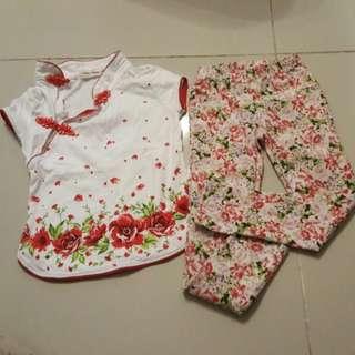 Cheongsam Shirt & Pants