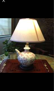 Rare Copper Red Underglaze Kendi Pot Table Lamp