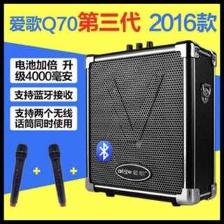 professional active speaker with speaker Bluetooth thumb drive radios karaoke