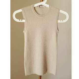 Authentic Prada beige cashmere and silk vest