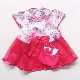 TiaTGB dress baju imlek anak bayi (no barter, no nego)
