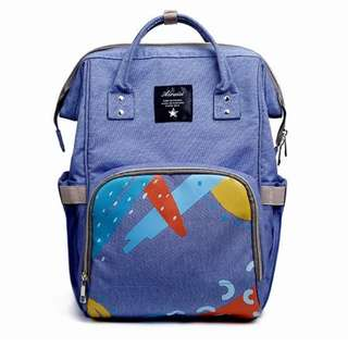Mommy Backpack Diaper Bag (Light Blue)