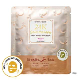 Etude House 24K Gold Therapy Red Ginseng Mask