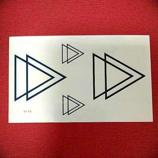 Triangles Temporary Tattoo