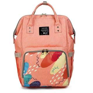 Mommy Backpack Diaper Bag (Blush Pink)