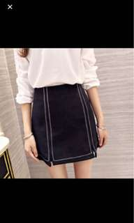 Black high waist skirt