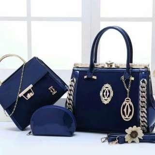 Kode 8815#02 Bahan glitter kombi glossy Kualitas Semi Premium Uk 30x13x22