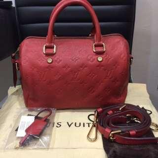 Louis Vuitton speedy 25 bandouliere empriente leather