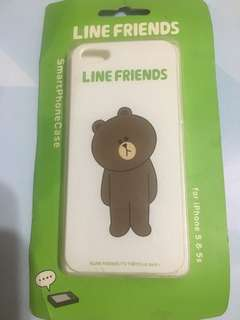 購自台灣🤪LINE SHOP iPhone 5 & 5s LINE brown電話殼