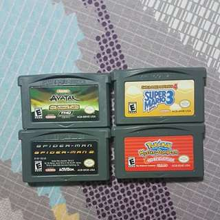 Gameboy advanced Cartridges