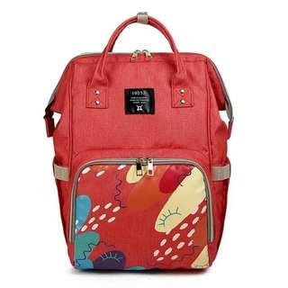 Mommy Backpack Diaper Bag (Red)