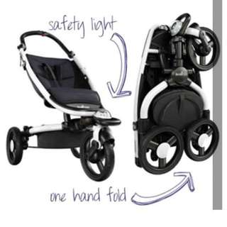 Babyzen Zen stroller (black w white frame)