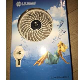 【Lileng立冷】USB 噴霧加濕風扇