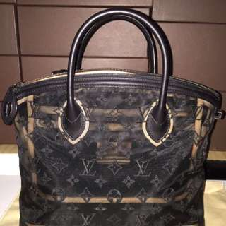 Louis Vuitton bag transparent noir