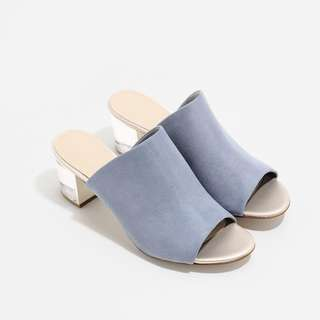 Charles & Keith Lucite Mules
