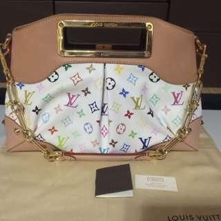 Louis Vuitton Judy PM multicolore white