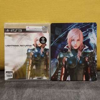 PS3 GAME FINAL FANTASY XIII : LIGHTNING RETURN WITH STEEL CASE (R3)