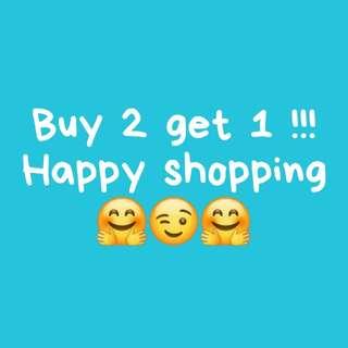Buy 2 get 1 / Beli 2 gratis 1