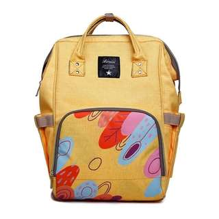 Mommy Backpack Diaper Bag (Yellow)