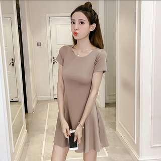 <P.O> Korean Ulzzang Minimalist A Line Dress