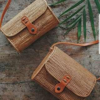 Baki Handwoven Rattan Bag