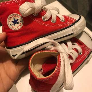 Converse Shoes High cut Red