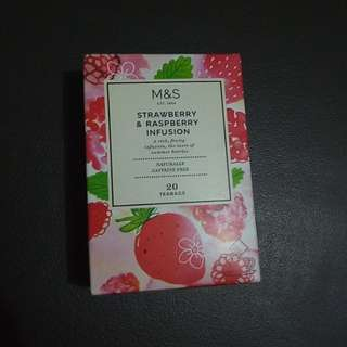 Marks and Spencer Strawberry Raspberry fusion Tea bags