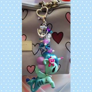 Marina Mermicorno Beads Keychain