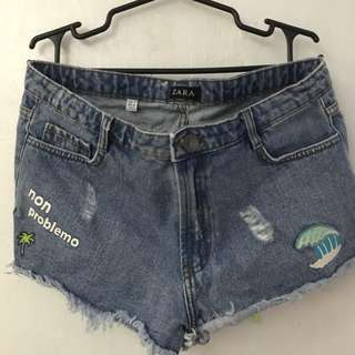 Zara shorts with patches