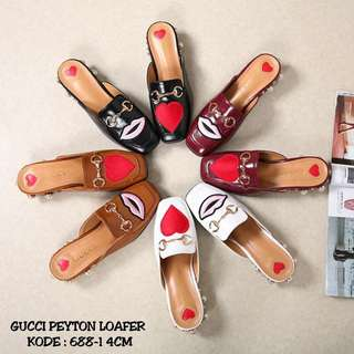GUCCI PEYTON LOAFERS SHOES BODIR LIP 💋 & HEART