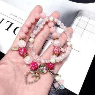 Pink 手鍊 bracelet