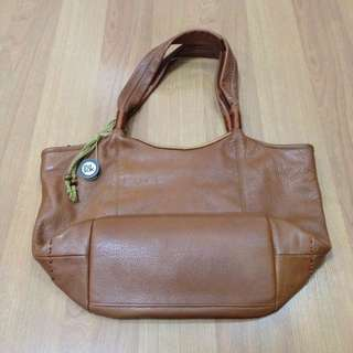 New:THE SAK leather brown shoulder bag