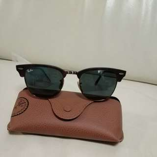 Ray ban brown clubmaster sunglasses
