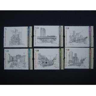 香港2016-江啟明素描作品-郵票