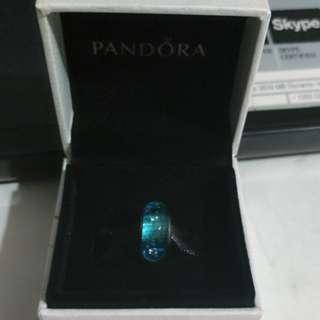 Pandora - Blue Fizzle Murano Glass Charm