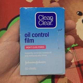 Clean&clear Oil control film