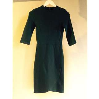Topshop moss green dress