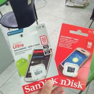 SanDisk memory card 16gb