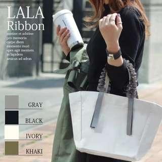 PO Japan Korea Fashion LALA Ribbon Handbag