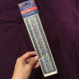 Turkish hand woven bookmark