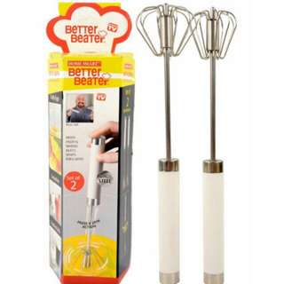 Better Beater Egg Whisk Press & Spin (2-in-1)